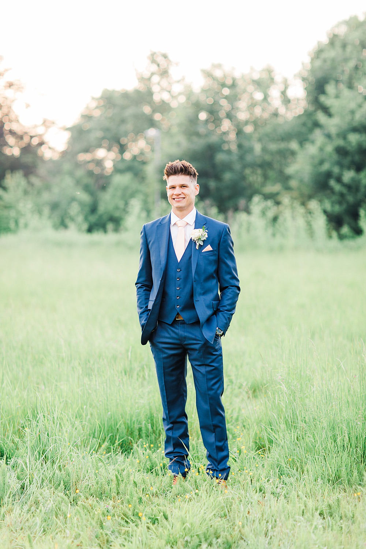 Groom Groomsmen Suit Navy Pink Tie Sheene Mill Wedding Terri & Lori Photography and Film Studio