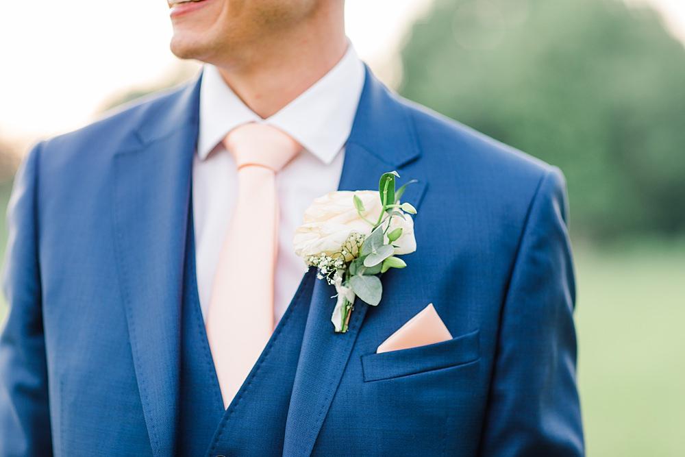 Groom Groomsmen Suit Navy Pink Tie Rose Buttonhole Sheene Mill Wedding Terri & Lori Photography and Film Studio