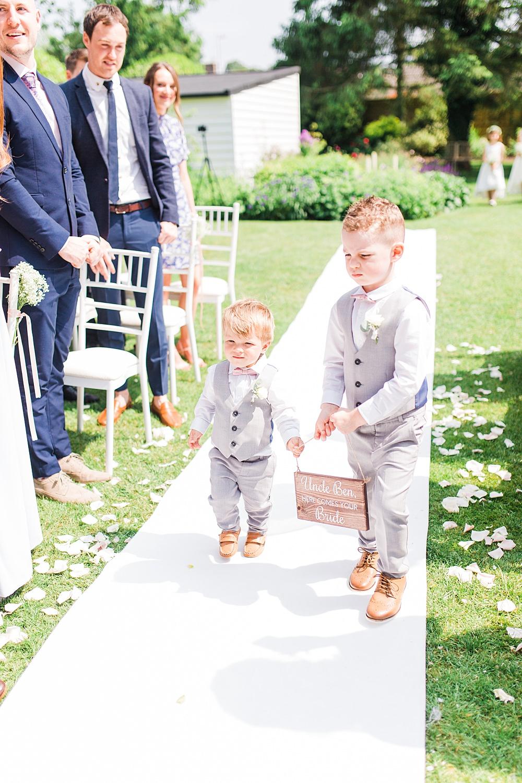 Page Boys Waistcoats Sheene Mill Wedding Terri & Lori Photography and Film Studio