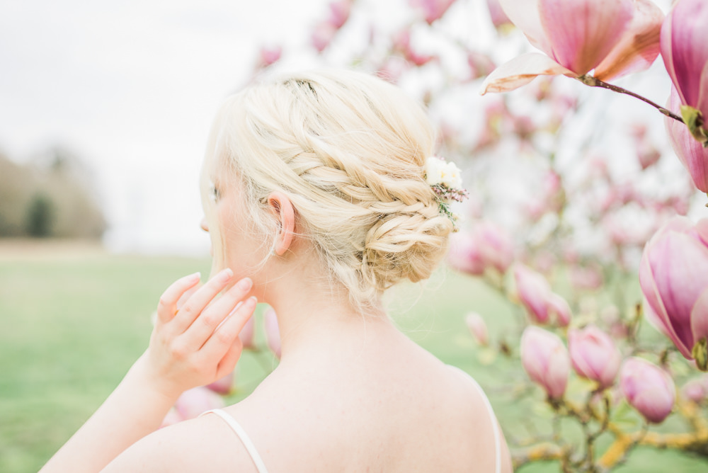 Bride Bridal Bridesmaid Hair Style Up Do Springtime Bridal Shower Ideas Hen Party Laura Jane Photography