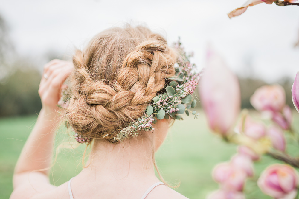 Bride Bridal Bridesmaid Hair Style Up Do Plait Braid Springtime Bridal Shower Ideas Hen Party Laura Jane Photography