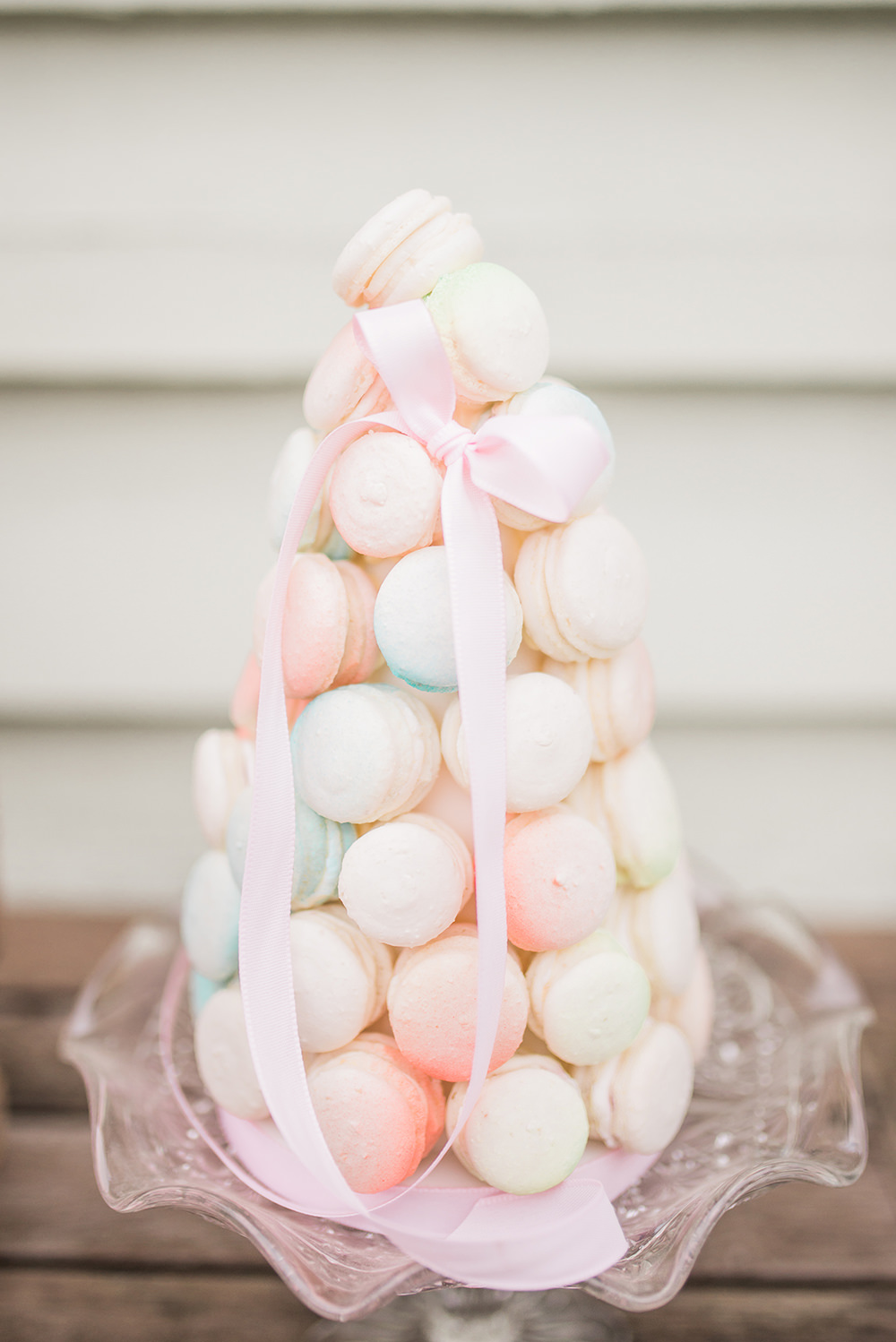 Macaron Tower Pastel Ribbon Springtime Bridal Shower Ideas Hen Party Laura Jane Photography