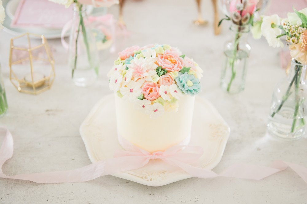 Floral Flower Cake Pretty Springtime Bridal Shower Ideas Hen Party Laura Jane Photography