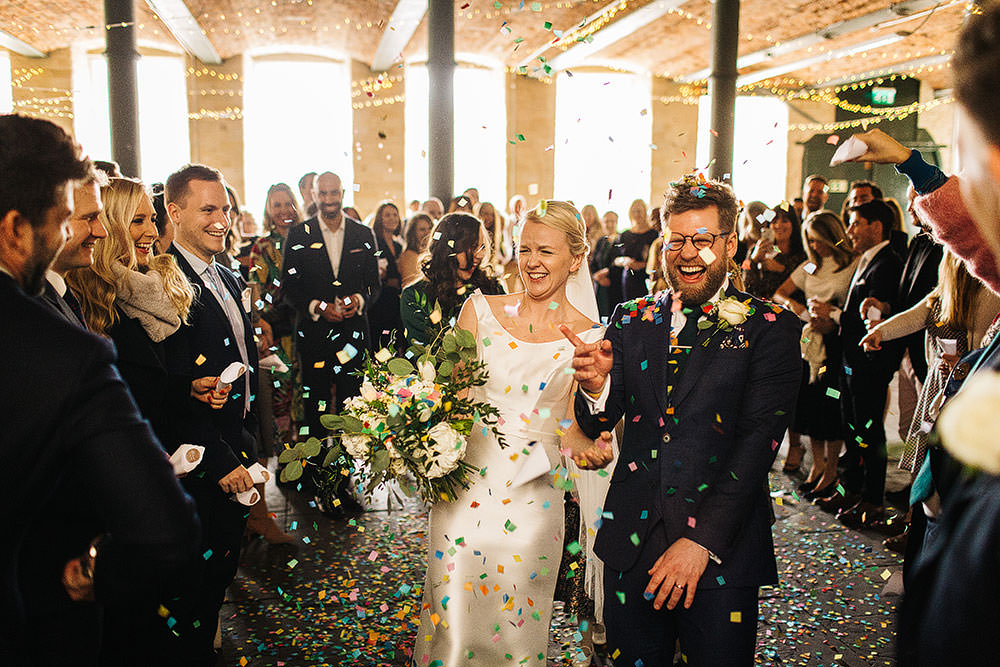 Confetti Throw The Arches Halifax Wedding Paul Joseph Photography