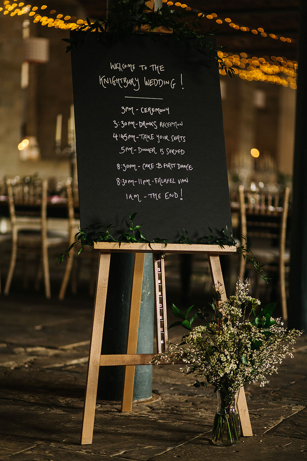 Chalk Board Sign Signage Signs The Arches Halifax Wedding Paul Joseph Photography