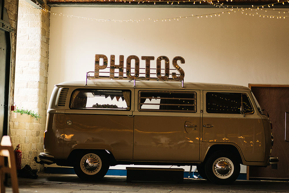 VW Campervan Photo Booth The Arches Halifax Wedding Paul Joseph Photography