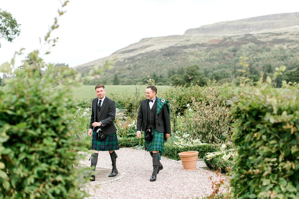 Ogilvie Tartan Kilt Groom Tin Shed Knockraich Farm Wedding The Gibsons Photography