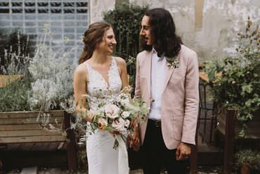Effortlessly Stylish Bohemian East London Warehouse Wedding