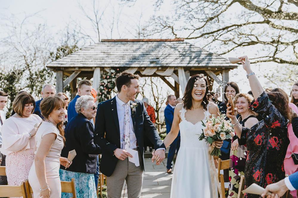 Confetti Trevenna Barns Wedding Wild Tide Creative