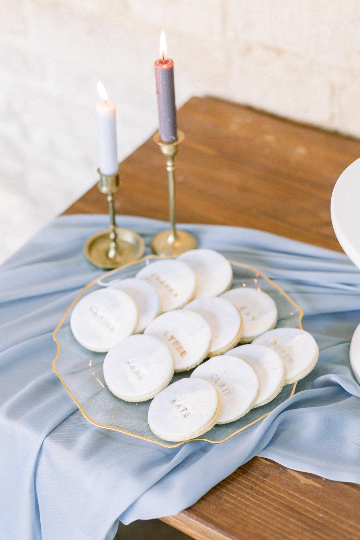 Cookies Winter Blue Barn Wedding Ideas Joanna Briggs Photography