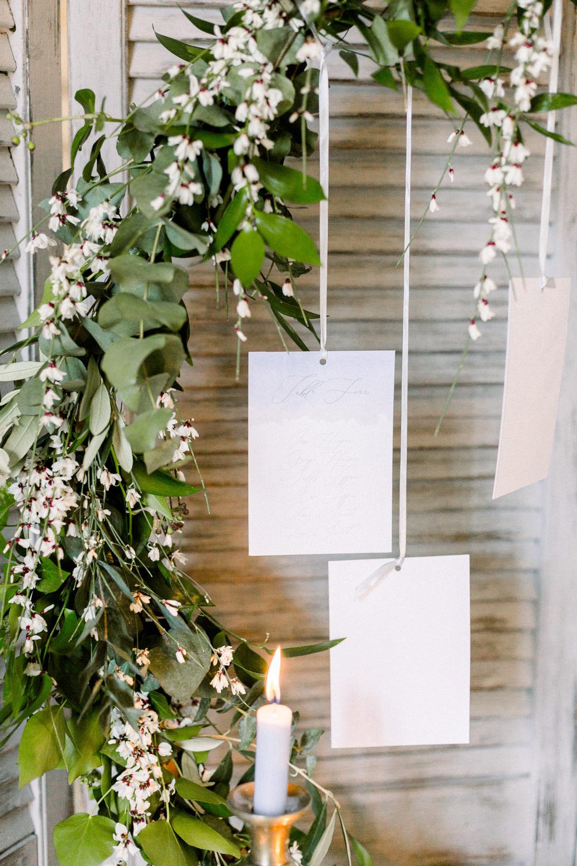 Seating Plan Table Chart Suspended Hoop Greenery Wreath Winter Blue Barn Wedding Ideas Joanna Briggs Photography