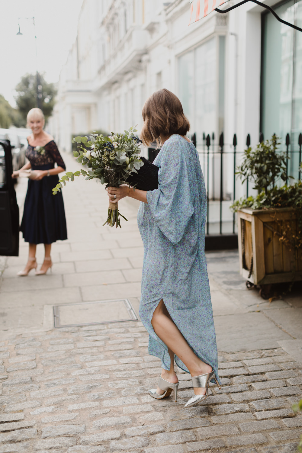Blue Bridesmaid Bridesmaids Dress Dresses Maid of Honour Asylum London Wedding Emma Gates Photography