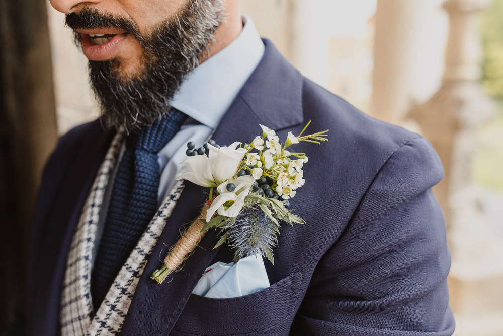 Groom Buttonhole Flowers Asylum London Wedding Emma Gates Photography