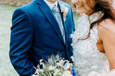 Fresh Blue & Gold Wedding Ideas with Wild & Free Florals