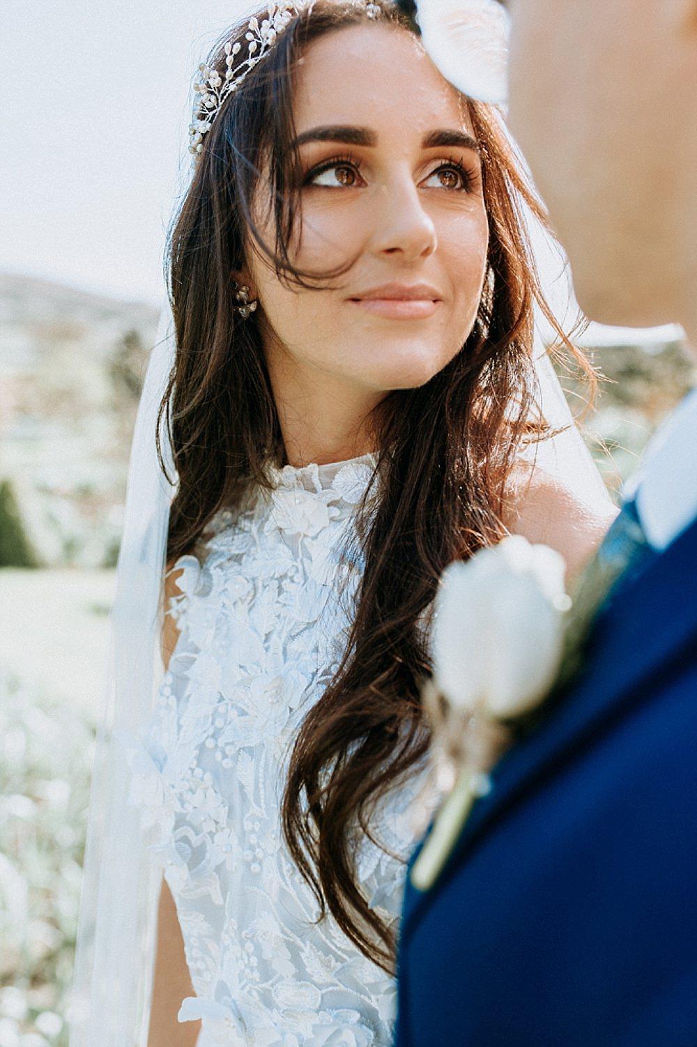 Make Up Bride Bridal Blue Gold Wedding Ideas Ailsa Reeve Photography