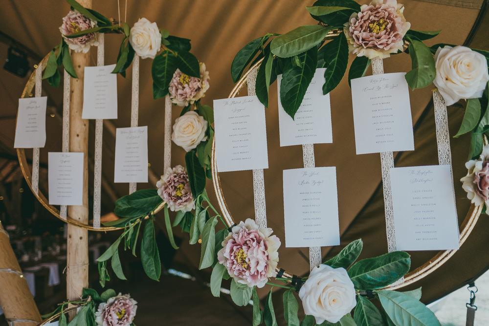 Hoop Floral Hanging Table Plan Boho Tipi Wedding Ross Talling Photography