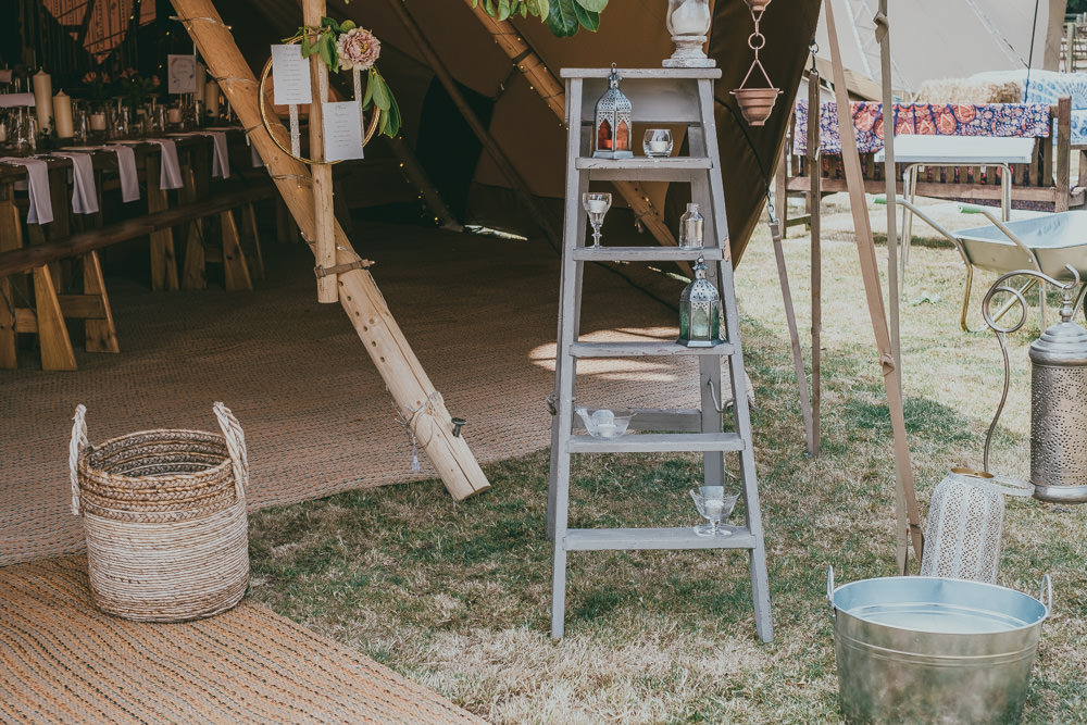 Stepladder Display Hanging Table Plan Hoop Boho Tipi Wedding Ross Talling Photography