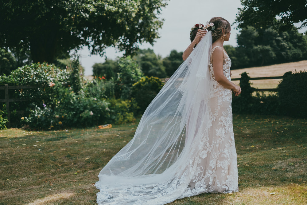 Bride Bridal V Neck Nude Lace Overlay Made With Love Boho Tipi Wedding Ross Talling Photography