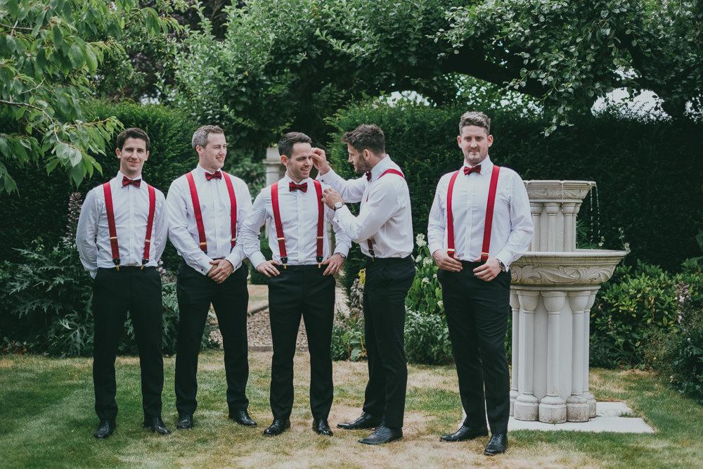 Bow Tie Braces Groomsmen Boho Tipi Wedding Ross Talling Photography