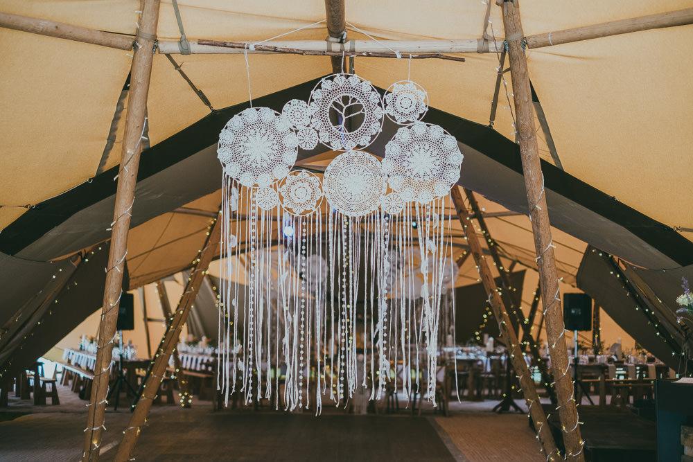 Macrame Dreamcatcher Boho Tipi Wedding Ross Talling Photography