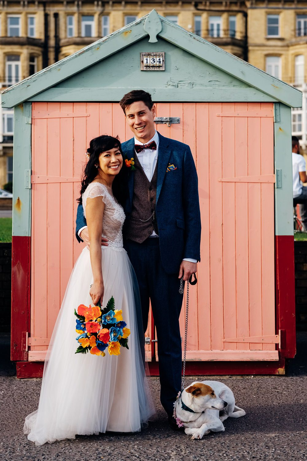 Wes Anderson Inspired Bright & Bold Town Hall Wedding