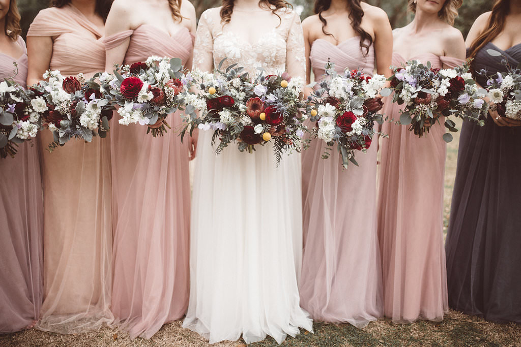 Bridesmaids Bridesmaid Dress Dresses Pink Bouquets Flowers Charleston Wedding Katherine Dalton Photography