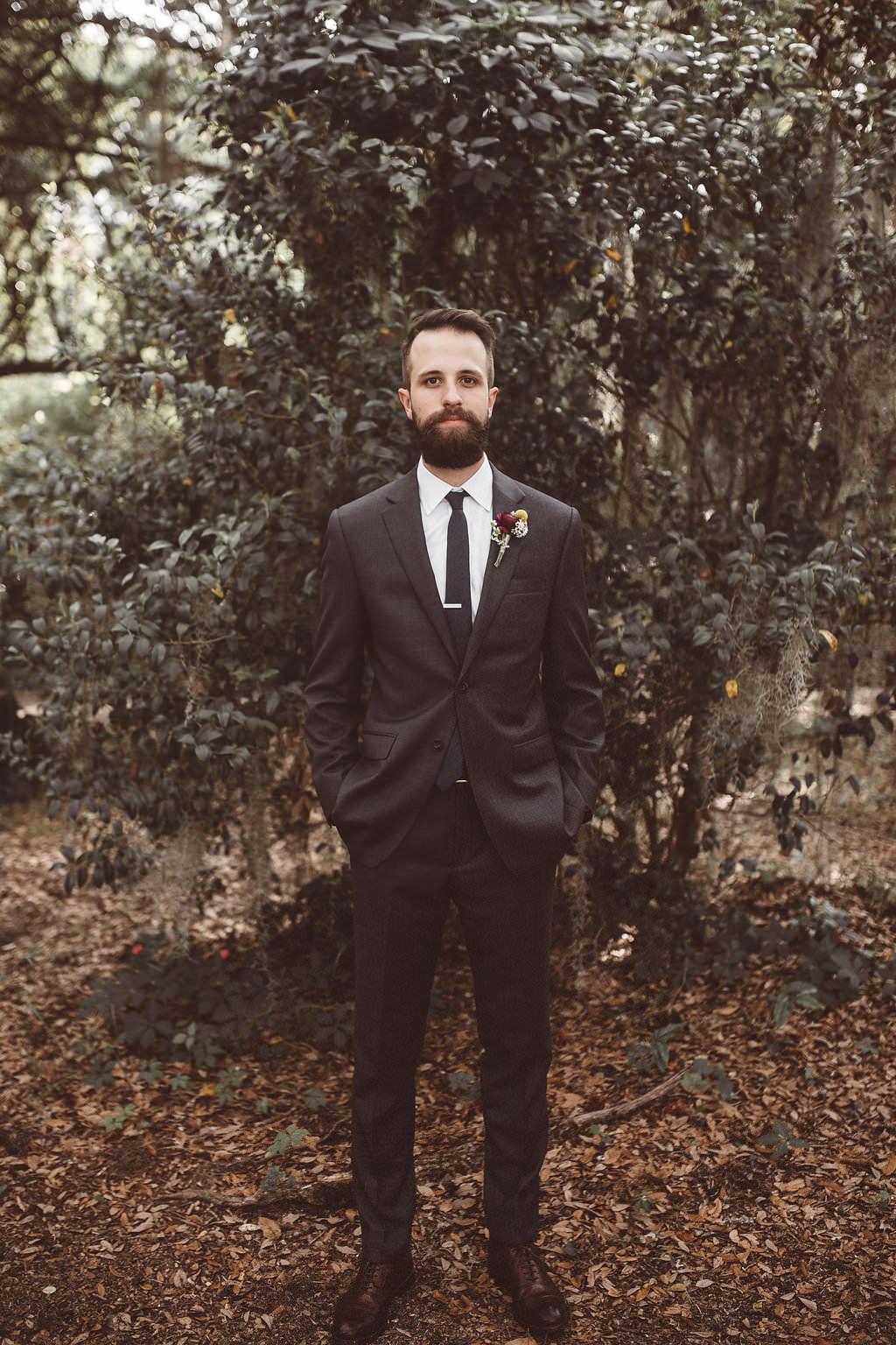 Groom Suit Black Tie Charleston Wedding Katherine Dalton Photography