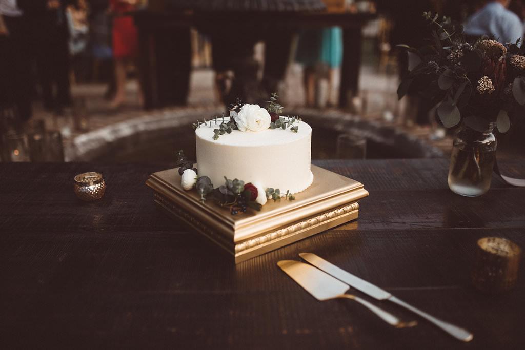 Buttercream Cake Greenery Charleston Wedding Katherine Dalton Photography