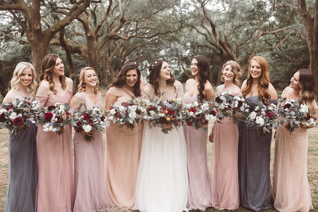 Bridesmaids Bridesmaid Dress Dresses Pink Charleston Wedding Katherine Dalton Photography