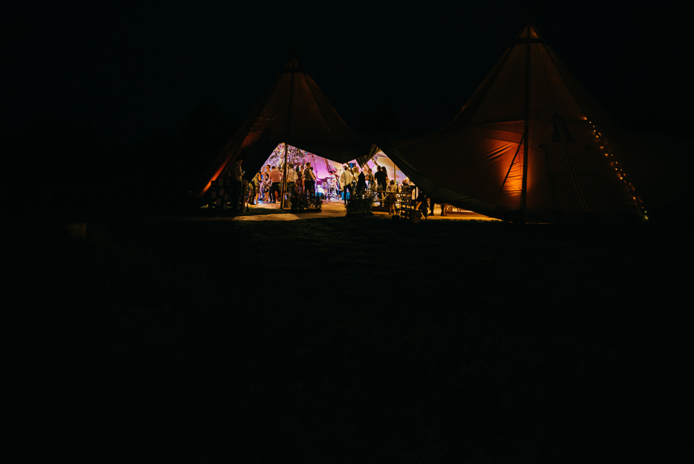 Tipi Lighting Church Farm Wedding Andrew Brannan Photography