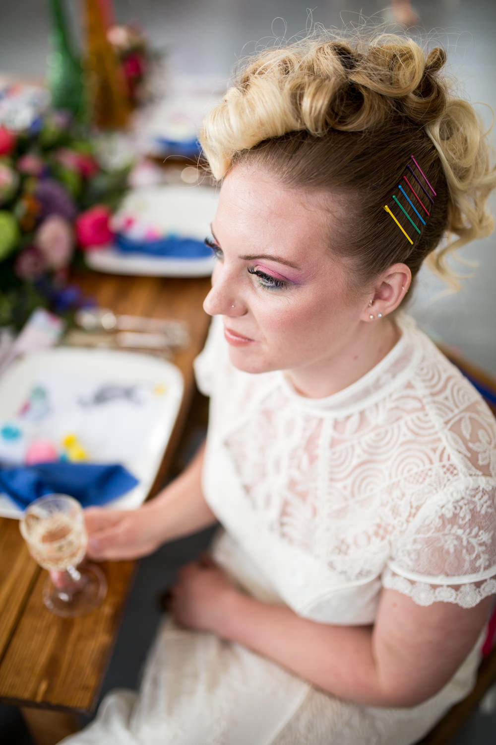 Bride Bridal Make Up Colourful Balloons Wedding Ideas Florence Berry Photography