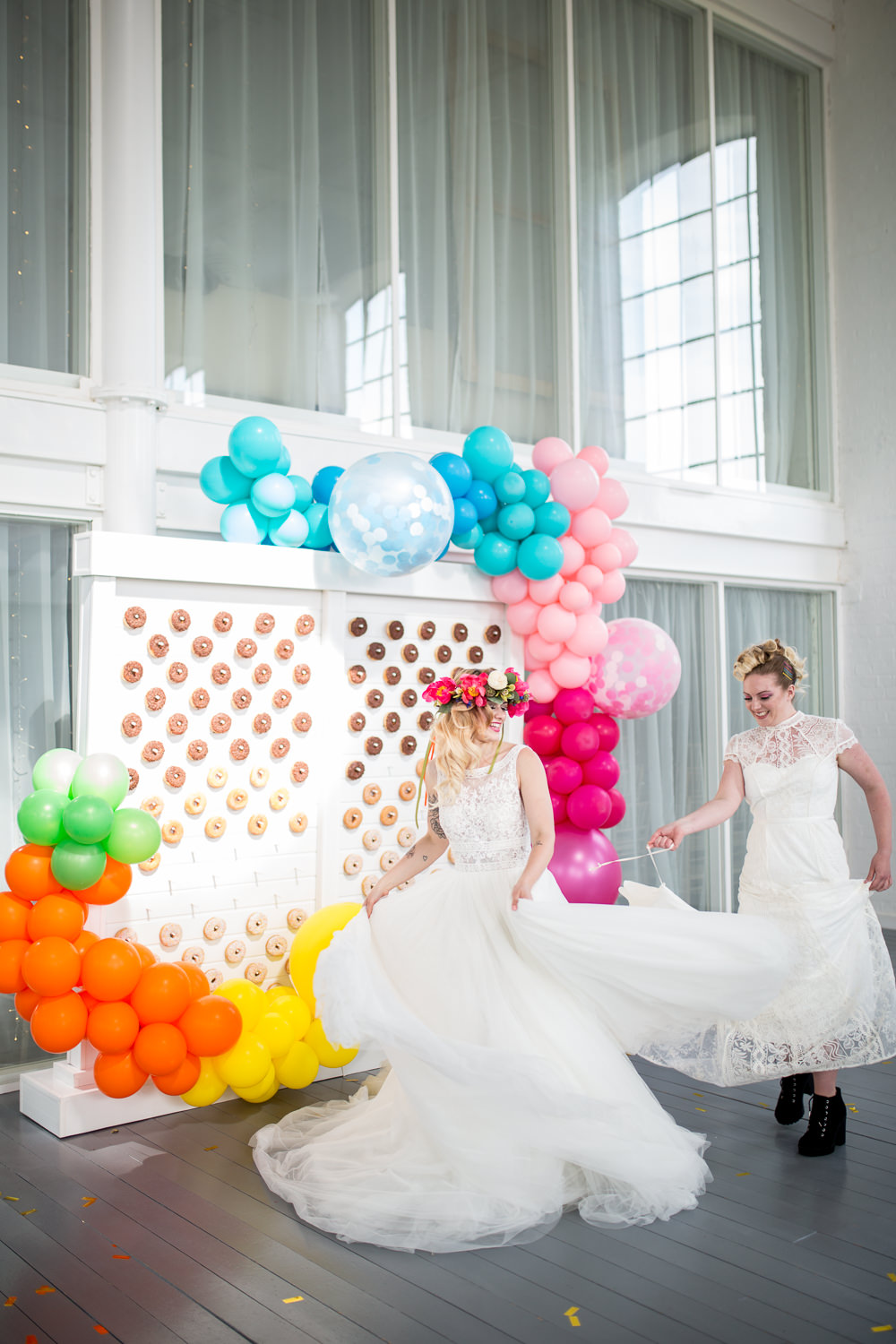 Colourful Balloons Wedding Ideas Florence Berry Photography