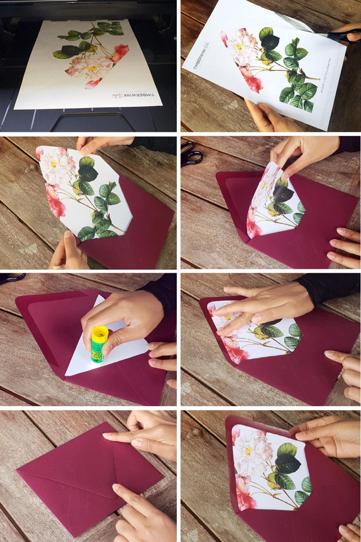 DIY Envelope Liners Wedding Tutorial