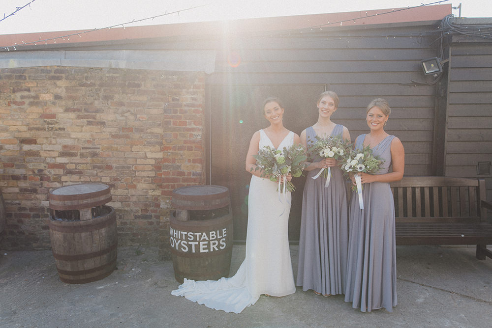 Bridesmaids Bridesmaid Dress Dresses Long Grey East Quay Whitstable Wedding Rebecca Douglas Photography