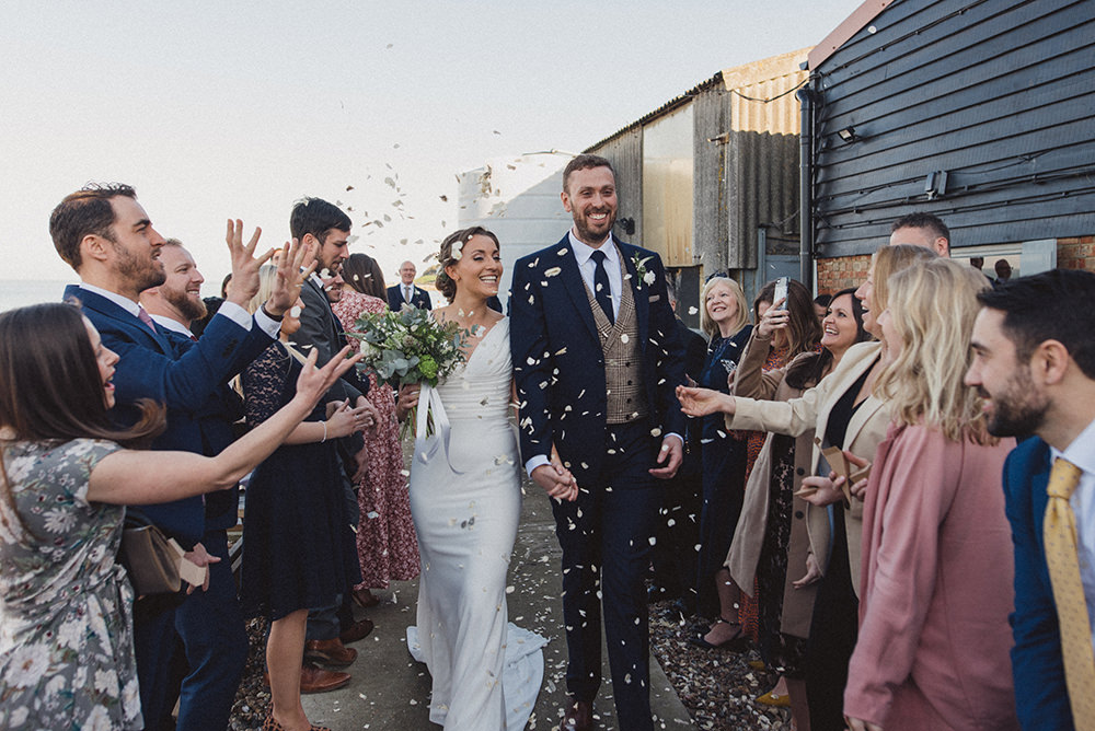 Confetti East Quay Whitstable Wedding Rebecca Douglas Photography