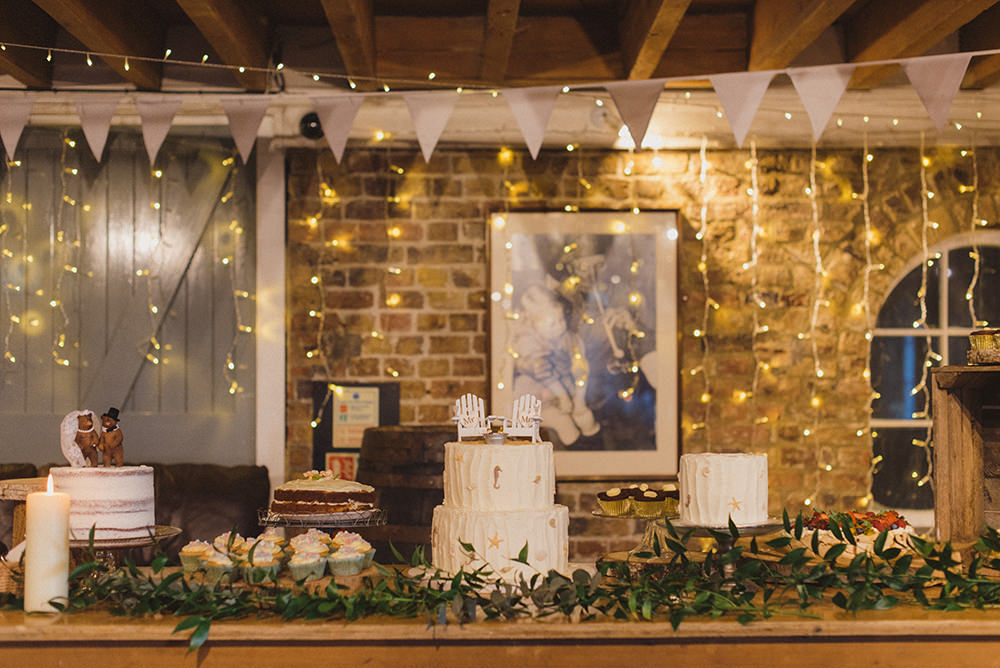 Cake Dessert Table East Quay Whitstable Wedding Rebecca Douglas Photography