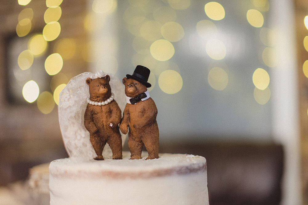 Bears Cake Topper East Quay Whitstable Wedding Rebecca Douglas Photography