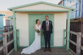 Dress Gown Bride Bridal Straps V Neck Fishtail Train East Quay Whiststable Wedding Rebecca Douglas Photography