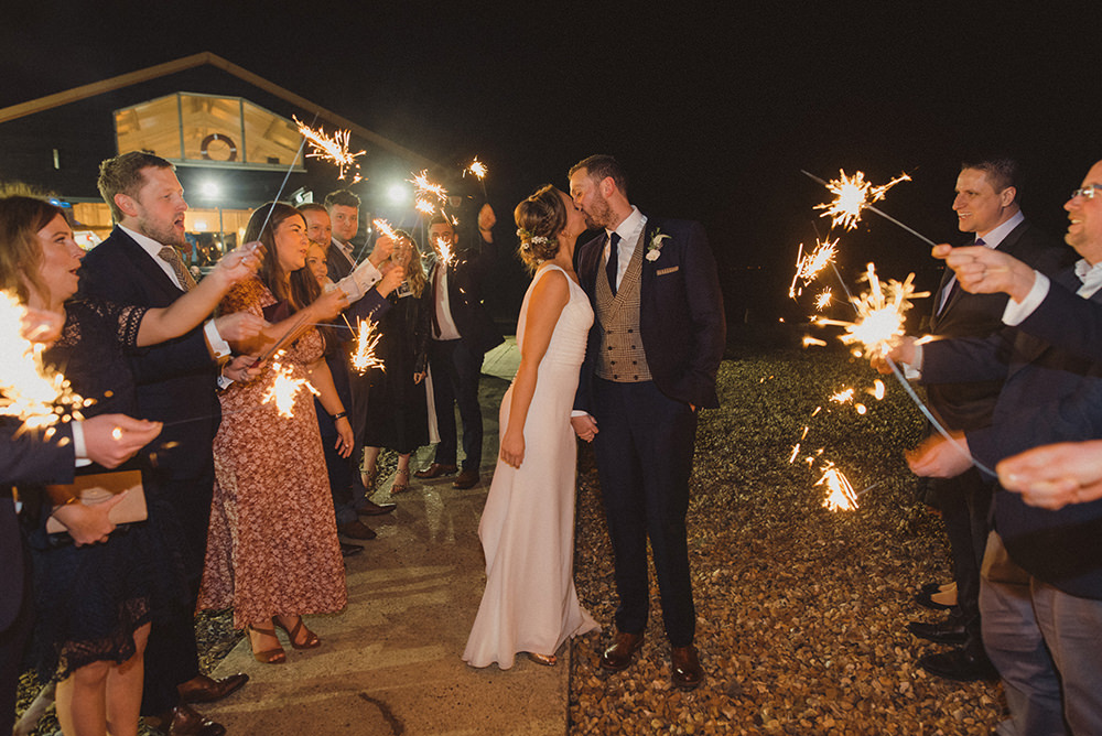 Sparklers East Quay Whitstable Wedding Rebecca Douglas Photography
