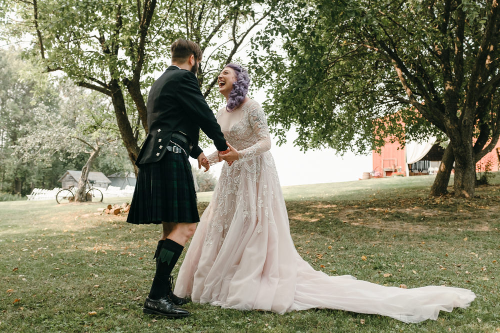 First Look Fantasy Nerdy Wedding Eric Lundgren Photography