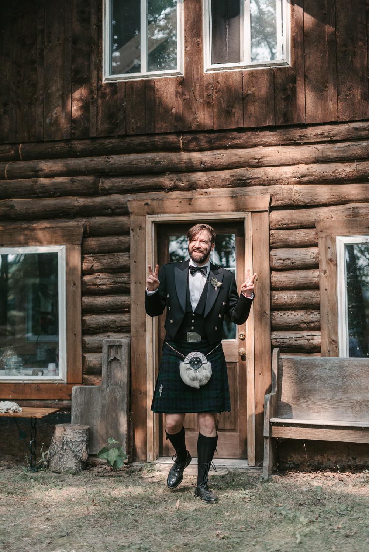 Groom Kilt Tartan Fantasy Nerdy Wedding Eric Lundgren Photography