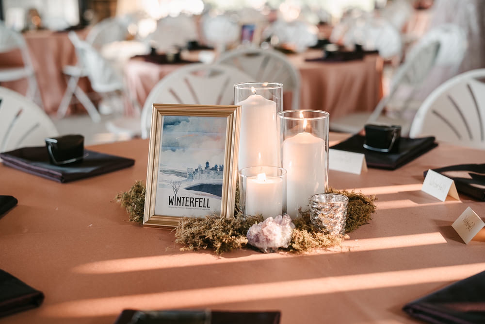 Game Of Thrones Table Name Fantasy Nerdy Wedding Eric Lundgren Photography