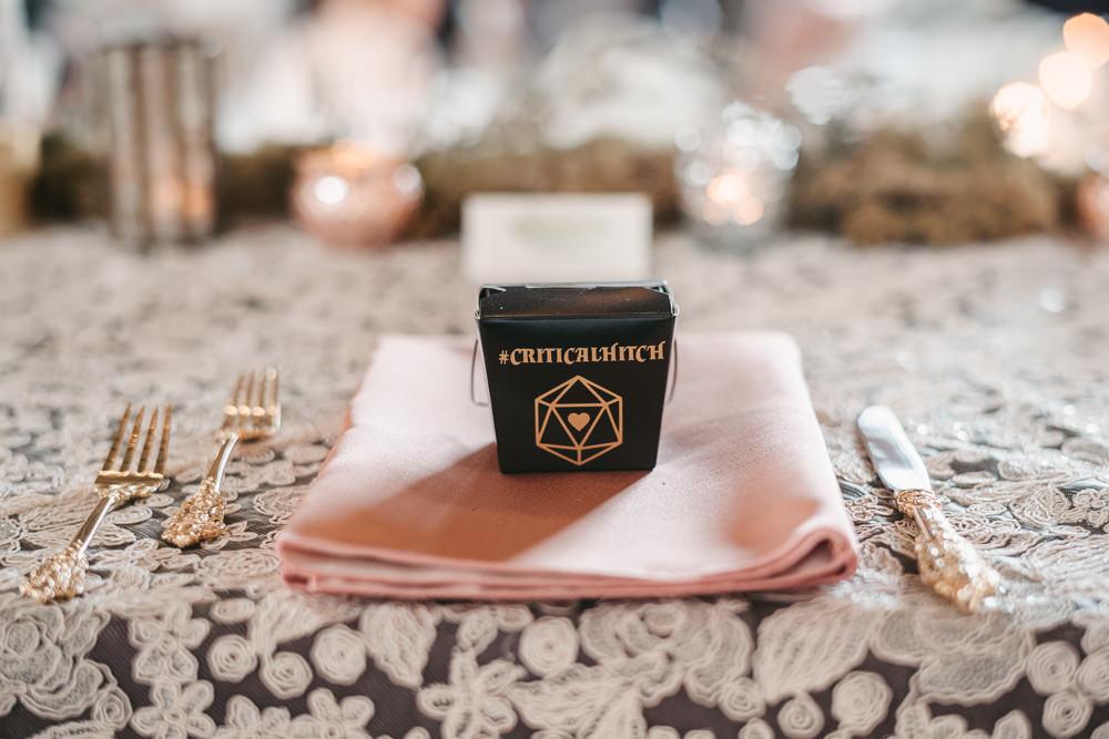 Favour Boxes Fantasy Nerdy Wedding Eric Lundgren Photography