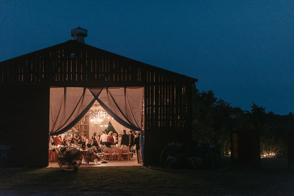Barn Evening Lights Lighting Fantasy Nerdy Wedding Eric Lundgren Photography