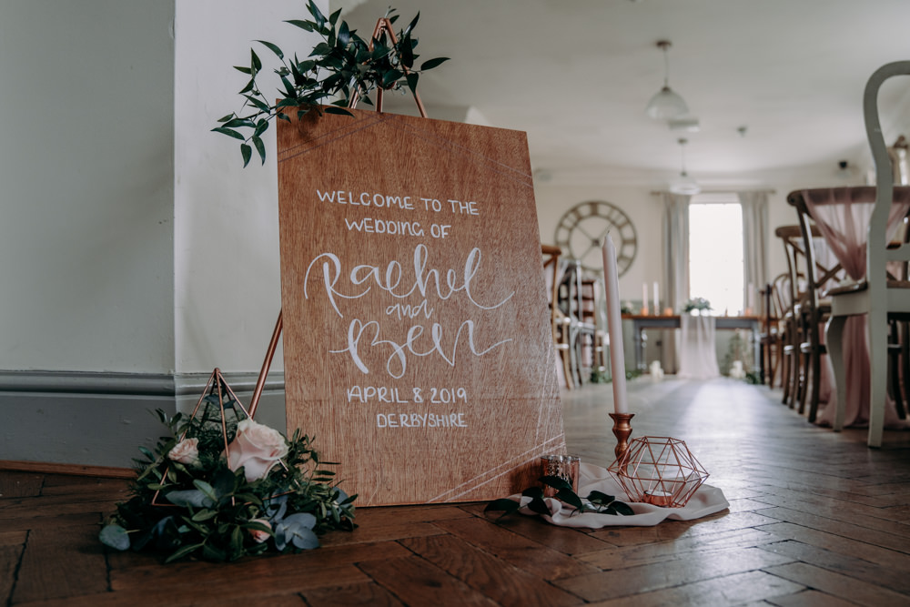 Wooden Sign Calligraphy Flowers Signage Free Spirited Wedding Ideas EKR Pictures