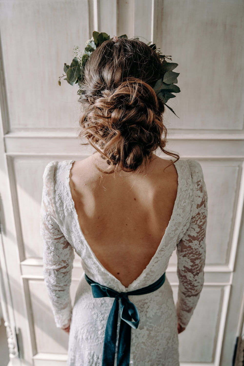 Bride Bridal Hair Style Up Do Bun Free Spirited Wedding Ideas EKR Pictures