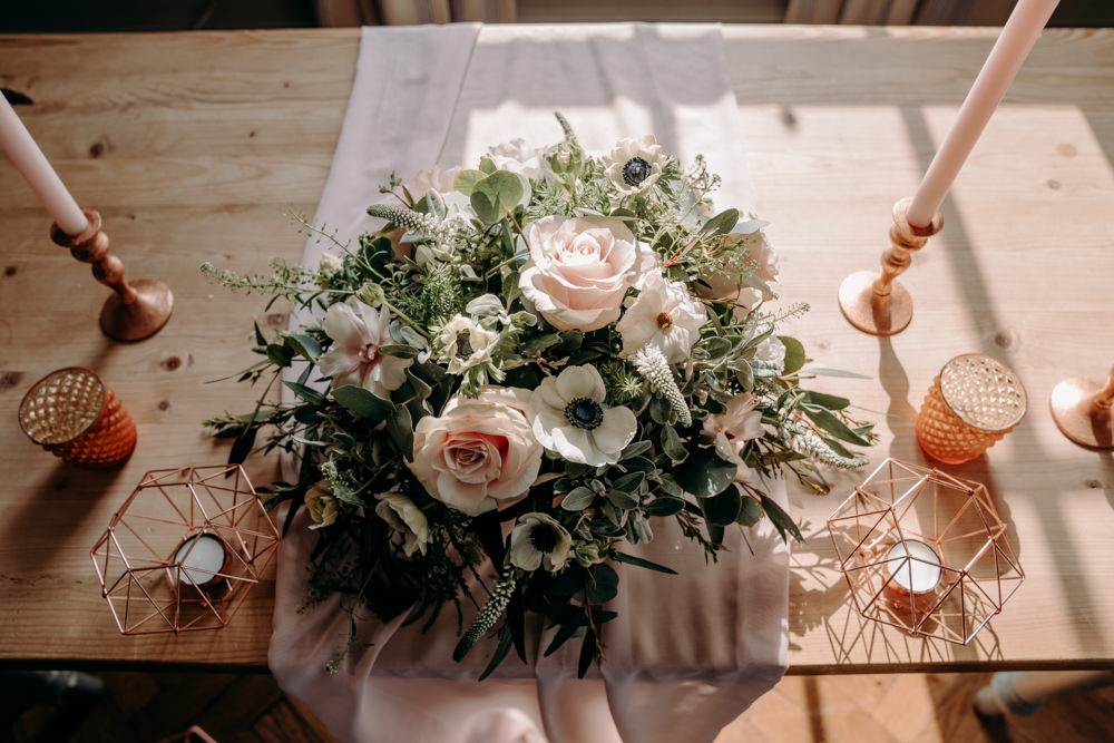 Ceremony Table Flowers Decor Decoration Candles Free Spirited Wedding Ideas EKR Pictures