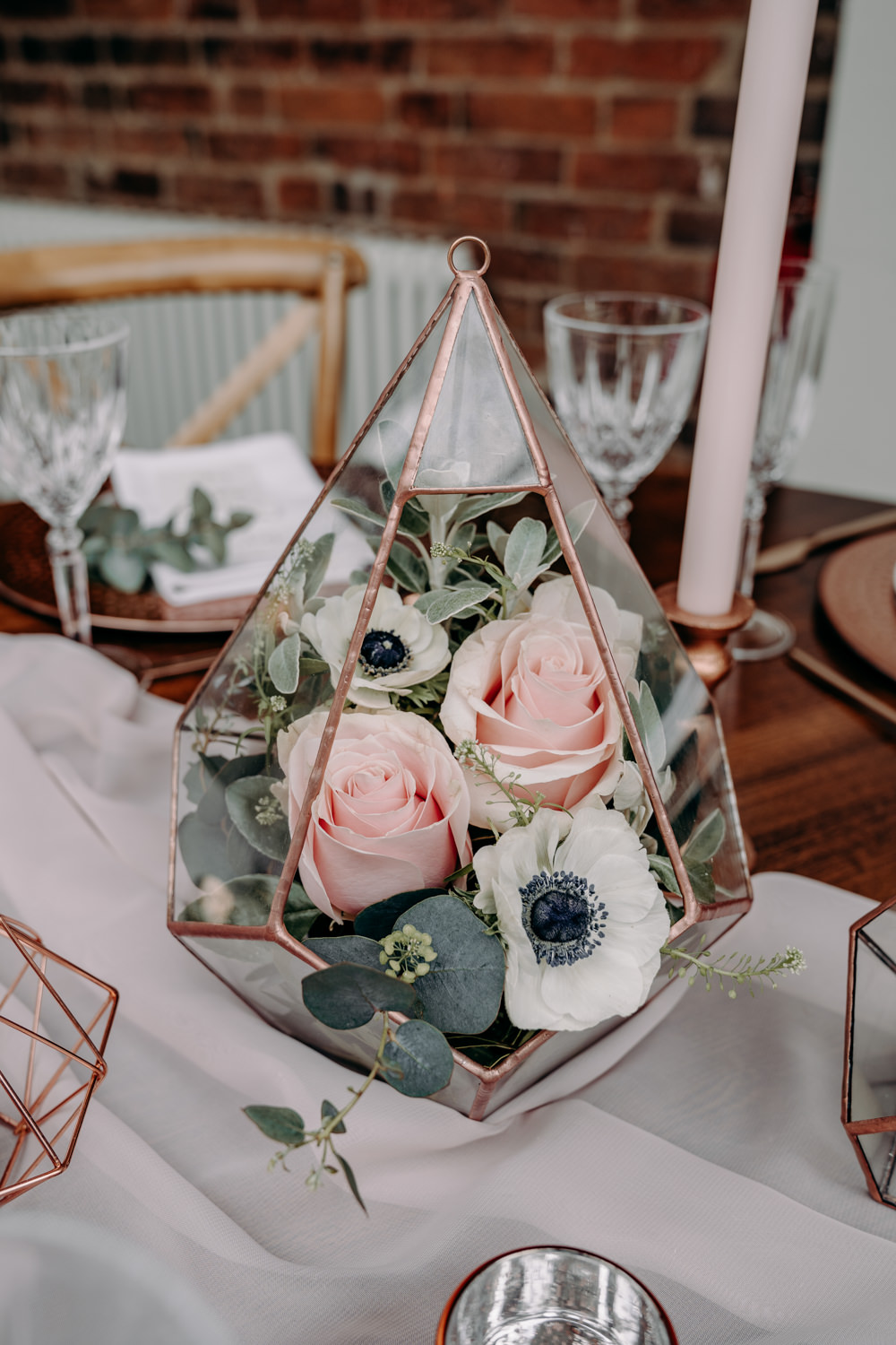 Terrarium Flowers Copper Decor Decoration Free Spirited Wedding Ideas EKR Pictures