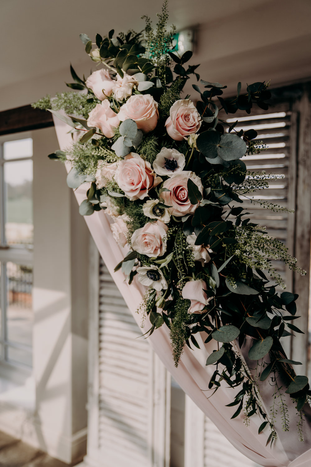 Flowers Greenery Pink Foliage Free Spirited Wedding Ideas EKR Pictures