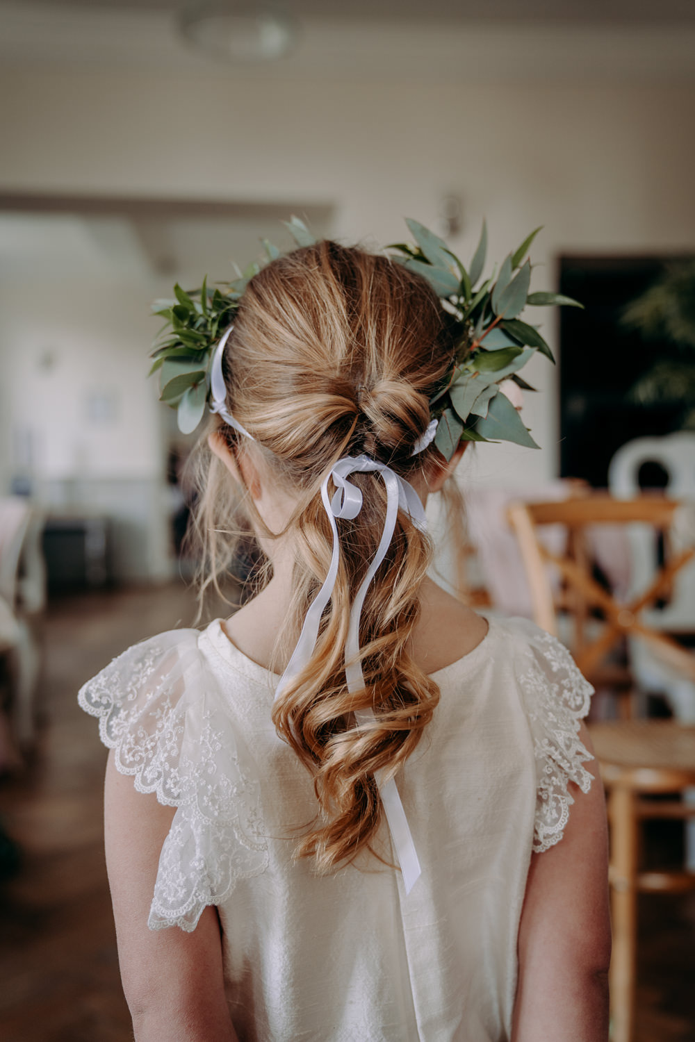 Flower Girl Hair Style Pony Tail Free Spirited Wedding Ideas EKR Pictures